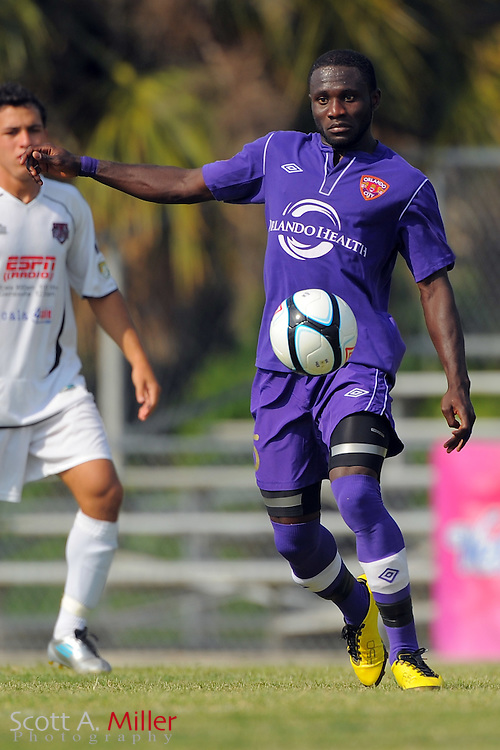 Orlando City U23s defender Joseph Toby (5) in action during Orlando's game against the Ocala Stampede at the Seminole Soccer Complex Saturday on May 26, 2012 in Sanford, Fla. ...©2012 Scott A. Miller..