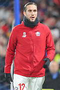 Lille midfielder Yusuf Yazıcı (12) warms up prior to the Champions League match between Chelsea and Lille OSC at Stamford Bridge, London, England on 10 December 2019.