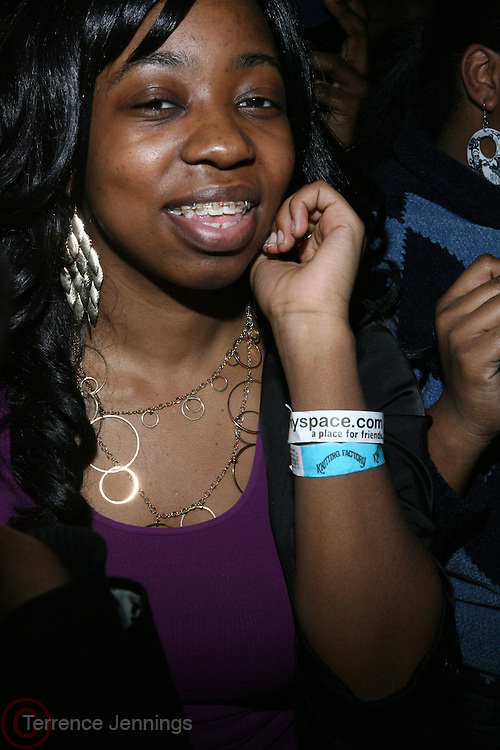 Audience at The Vibe Magazine VIP Celebration for Vibe's December cover featuring the first New York show of Plies, held at The Knitting Factory on November 24, 2008 in NYC