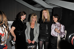 Left to right, JASMINE GUINNESS, JO WOOD, JADE PARFITT and BELLA FREUD at the 2nd Rodial Beautiful Awards in aid of the Hoping Foundation held at The Sanderson Hotel, 50 Berners Street, London on 1st February 2011.