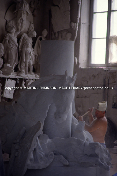 Italian marble worker, Carrera Italy....