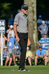August 9, 2018 - Town And Country, Missouri, U.S - JIM FURYK from Jacksonville Florida, USA waits his turn to putt on green number 14 during round one of the 100th PGA Championship on Thursday, August 8, 2018, held at Bellerive Country Club in Town and Country, MO (Photo credit Richard Ulreich / ZUMA Press) (Credit Image: © Richard Ulreich via ZUMA Wire)