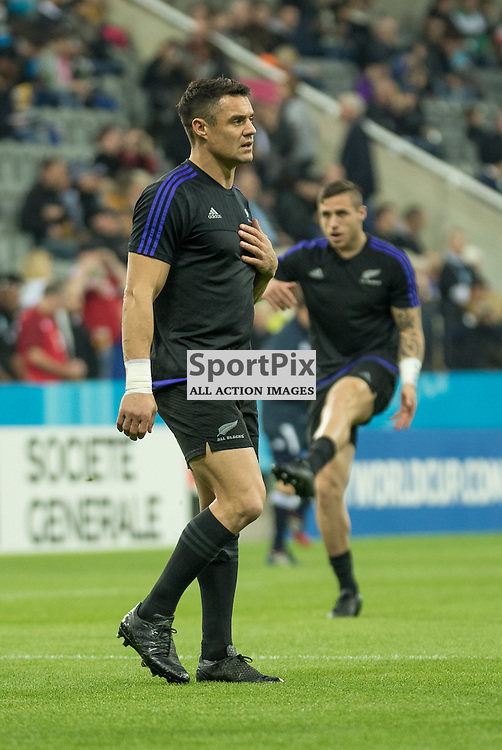 Dan Carter in the warm up<br /> New Zealand v Tonga, 9th October 2015