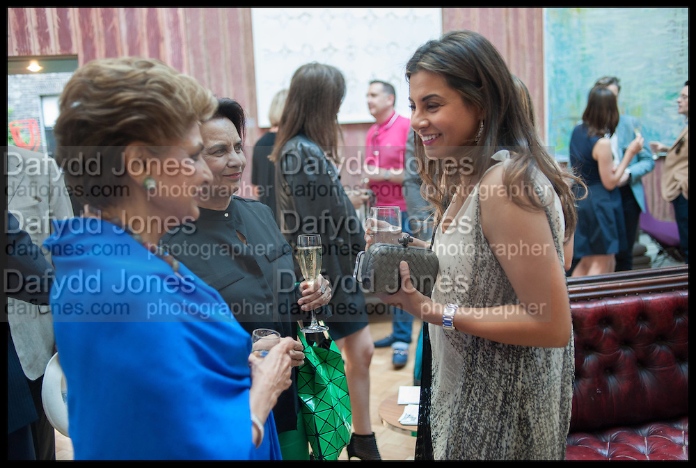 PRINCESS NEET NABHA KHEMKA; MEHREEN KHURSHEED, Drinks party to launch this year's Frieze Masters.Hosted by Charles Saumarez Smith and Victoria Siddall<br />  Academicians' room - The Keepers House. Royal Academy. Piccadilly. London. 3 July 2014
