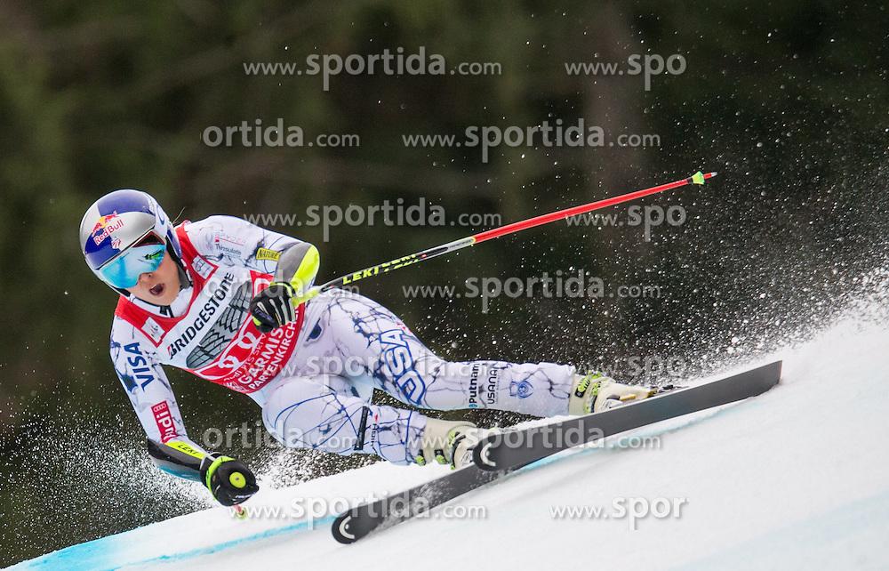 07.02.2016, Kandahar, Garmisch Partenkirchen, GER, FIS Weltcup Ski Alpin, Super G, Damen, im Bild Lindsey Vonn (USA, 3. Platz) // 3rd placed Lindsey Vonn of the USA competes during the ladies SuperG of Garmisch FIS Ski Alpine World Cup at the Kandahar course in Garmisch Partenkirchen, Germany on 2016/02/07. EXPA Pictures © 2016, PhotoCredit: EXPA/ Johann Groder