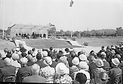 President de Valera cuts the first sod for the Faculty of Science building of University College Dublin, at Belfield. This was the first building of the new university campus. .07.06.1962