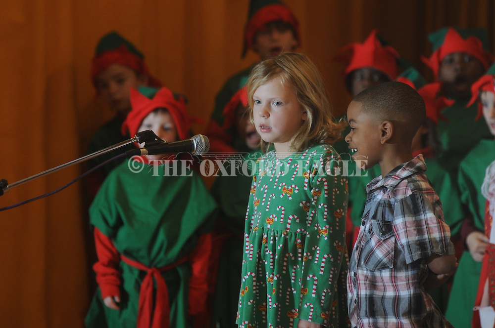 Bramlett Elementary first graders performa Christmas play at the school in Oxford, Miss. on Thursday, December 9, 2011.