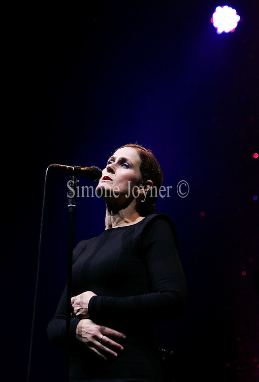 Singer Alison Moyet performs live at the Royal Festival Hall on December 6, 2009 in London, England.  (Photo by Simone Joyner)