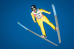 Marat Zhaparov of Kazakhstan during the Ski Flying Hill Individual Qualification at Day 1 of FIS Ski Jumping World Cup Final 2018, on March 22, 2018 in Planica, Ratece, Slovenia. Photo by Ziga Zupan / Sportida