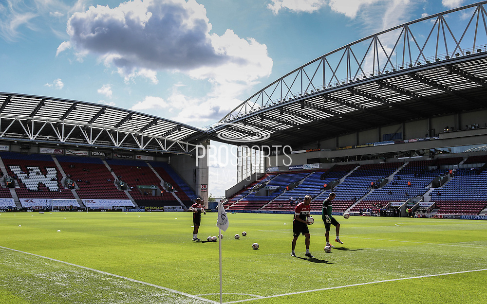 DW Stadium during the Sky Bet League 1 match between Wigan Athletic and Doncaster Rovers at the DW Stadium, Wigan, England on 16 August 2015. Photo by Simon Davies.
