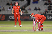 Lancashires Dane Vilas (Captain & Wicket Keeper) with another stumping during the Vitality T20 Blast North Group match between Lancashire Lightning and Birmingham Bears at the Emirates, Old Trafford, Manchester, United Kingdom on 10 August 2018.