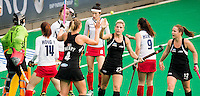 ANTWERP -    Gemma Flynn (m) scored 1-1 for NZL during  the  semifinal hockeymatch   Korea vs New Zealand.  WSP COPYRIGHT KOEN SUYK