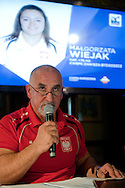 Waldemar Ostapski trainer coach of women's national team of Poland during press conference before weightlifting IWF World Championships Wroclaw 2013 at Stary Dom in Warsaw on September 16, 2013.<br /> <br /> Poland, Warsaw, September 16, 2013<br /> <br /> Picture also available in RAW (NEF) or TIFF format on special request.<br /> <br /> For editorial use only. Any commercial or promotional use requires permission.<br /> <br /> Photo by © Adam Nurkiewicz / Mediasport