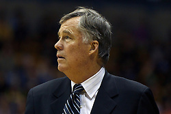 Jan 14, 2012; Berkeley CA, USA;  California Golden Bears head coach Mike Montgomery on the sidelines against the Utah Utes during the second half at Haas Pavilion. California defeated Utah 81-45. Mandatory Credit: Jason O. Watson-US PRESSWIRE