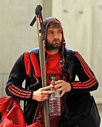 Mayo's Aidan O'Shea arriving into McHale park on saturday evening.<br />