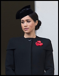 November 11, 2018 - London, London, United Kingdom - Image licensed to i-Images Picture Agency. 11/11/2018. London, United Kingdom. Meghan Markle, The Duchess of Sussex,  at the Remembrance Sunday service at The Cenotaph in London on  the Centenary of the end of the First World War. (Credit Image: © Stephen Lock/i-Images via ZUMA Press)