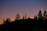 Crescent moon set, Isle Royale National Park
