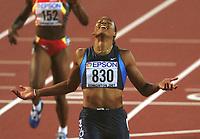 Friidrett. VM 2001 Edmonton. JONES, Marion     USA<br />                   Leichtathletik     WM 2001  200m Finale