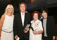 (L-R) Gabby Roslin, Ray Davies (Kinks), Rita Gilligan, Sharleen Spiteri. The Silver Clef Lunch 2013 in aid of  Nordoff Robbins held at the London Hilton, Park Lane, London.<br /> Friday, June 28, 2013 (Photo/John Marshall JME)