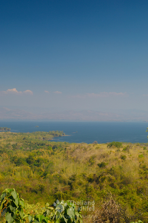 View at Mae Khamin in the Khuean Srinagarindra National Park in Kanchanaburi, Thailand, February 2007.