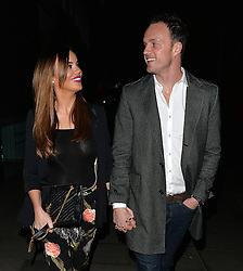 Maria Fowler and boyfriend England BMX champion Kelvin Batey leaving the Mayfair Hotel in London, UK. 21/01/2016<br />