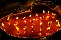 Yak butter candles, Palcho Monastery (a.k.a. Pelkor Chode Monastery), Gyangze, Tibet (Xizang), China.