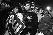 soirée référendaire au Métropolis. Rassemblement du OUI.<br /> Référendum 95