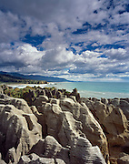 Pancake Rocks, Punakaiki, between Westport and Greymouth on the west coast of the south Island of New Zealand.1999