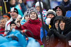 Fans during the 2nd Run of Men's Slalom - Pokal Vitranc 2013 of FIS Alpine Ski World Cup 2012/2013, on March 10, 2013 in Vitranc, Kranjska Gora, Slovenia.  (Photo By Matic Klansek Velej / Sportida.com)