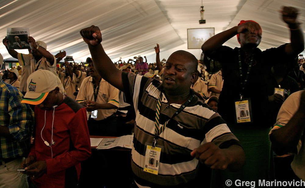 POLOKWANE, SOUTH AFRICA DEC 16. The ruling African National Congress conference to elect a new president. Photo Greg Marinovich