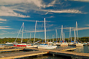 Marina in harbour in Lake of the Woods<br /> Kenora<br /> Ontario<br /> Canada