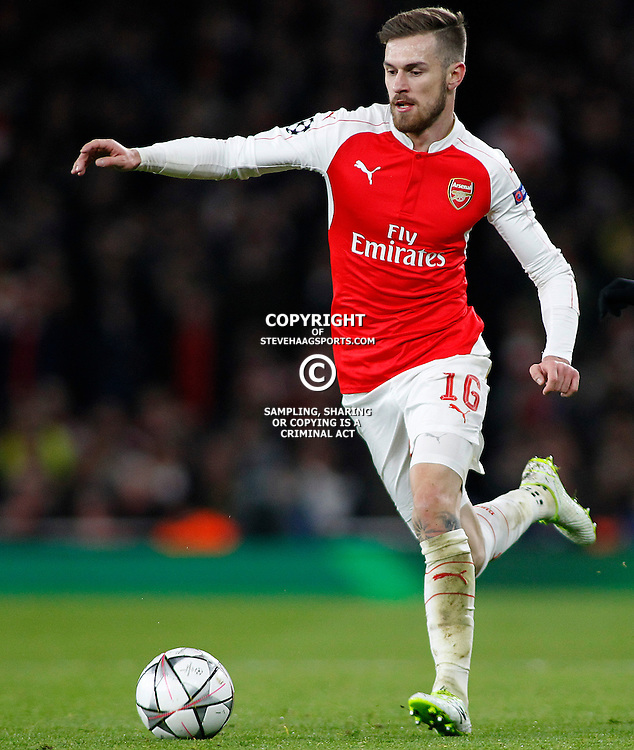 LONDON, ENGLAND - FEBRUARY 23: Aaron Ramsey of Arsenal during the Champions League match between Arsenal and Barcelona at The Emirates Stadium on February 23, 2016 in London, United Kingdom. (Photo by Mitchell Gunn/ESPA-Images)