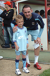 COVENTRY MASCOT WITH DAVID BELL, Kettering Town v Coventry City FC, Pre Season Friendly, Saturday 23rd July 2011