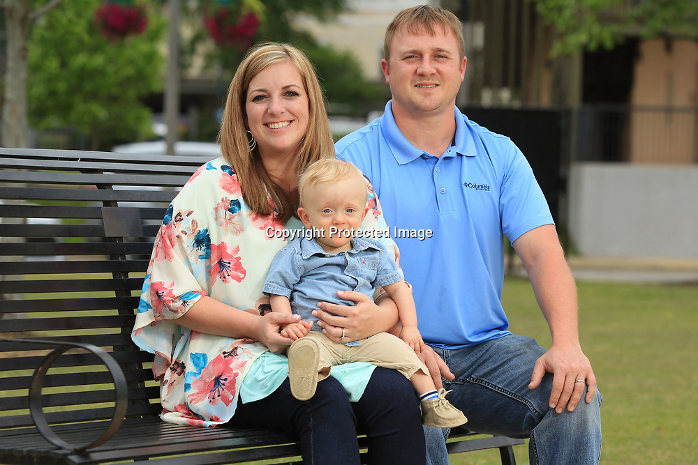 Alice and Brad Griggs with 14 month old son Colton.