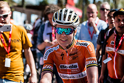 Anna VAN DER BREGGEN of Boels - Dolmans Cycling Team after the 2018 La Flèche Wallonne Fèminine race, Huy, Belgium, 18 April 2018, Photo by Pim Nijland / PelotonPhotos.com | All photos usage must carry mandatory copyright credit (Peloton Photos | Pim Nijland)