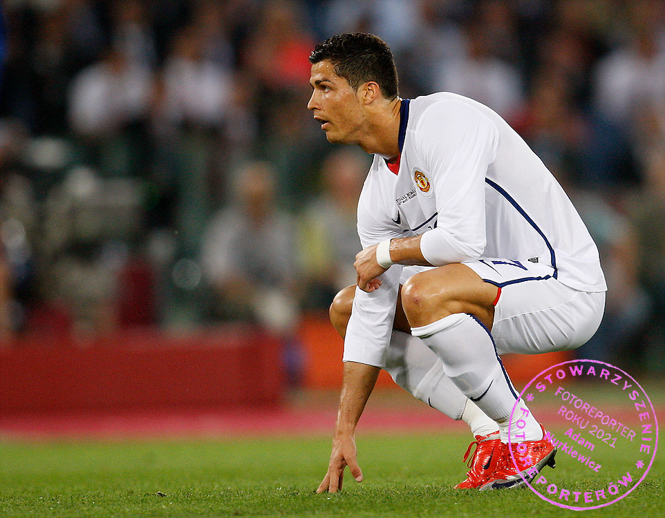 ROME 27/05/2009.Uefa Champions League - Final.Manchester United v Fc Barcelona.A dejected Cristiano Ronaldo of Manchester Utd ..Fot. Piotr Hawalej / WROFOTO