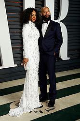 Feb. 22, 2015 - Beverly Hills, California, USA - Solange Knowles and husband Alan Ferguson attending the Vanity Fair Oscar Party 2015 on February 22, 2015 in Beverly Hills, California. (Credit Image: © Future-Image/ZUMA Wire)