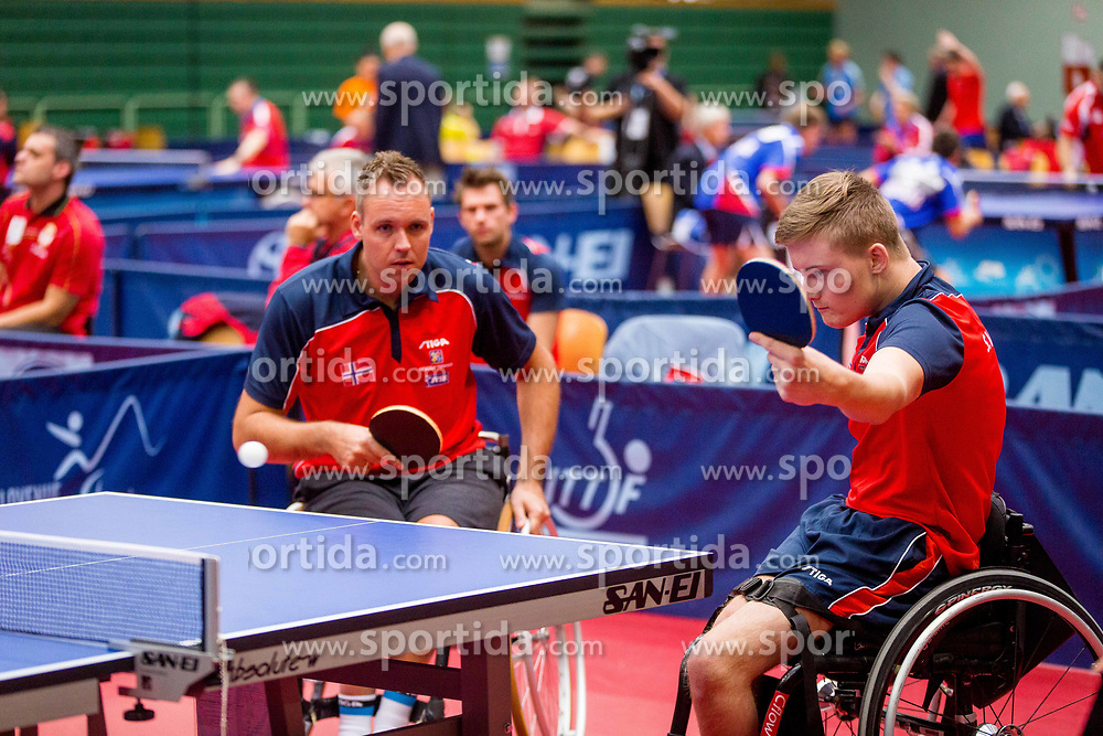 NORWAY (URHAUG Tommy and VEGSUND Sebastian Brandal) during day 4 of 15th EPINT tournament - European Table Tennis Championships for the Disabled 2017, at Arena Tri Lilije, Lasko, Slovenia, on October 1, 2017. Photo by Ziga Zupan / Sportida