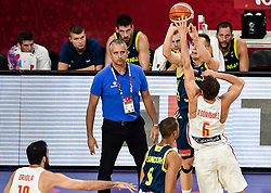 Igor Kokoskov, coach of Slovenia and Klemen Prepelic of Slovenia vs Sergio Rodriguez of Spain during basketball match between National Teams of Slovenia and Spain at Day 15 in Semifinal of the FIBA EuroBasket 2017 at Sinan Erdem Dome in Istanbul, Turkey on September 14, 2017. Photo by Vid Ponikvar / Sportida