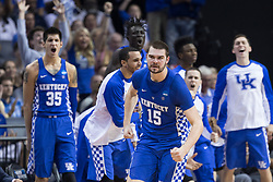 Kentucky forward Isaac Humphries scored 12 points Wildcats' loss to North Carolina 75-73, in the 2017 NCAA D1 Men's South Regional Championship, Sunday, March 26, 2017 at FedExForum in Memphis.