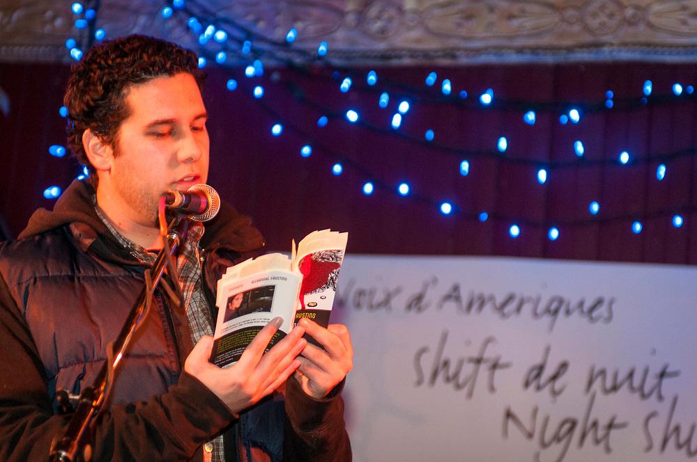 Shift de nuit, Animé par Michel Vézina. Poètes invités:    Laure Péré, Dominic Champagne, Alexandre Faustino.  Musiciens: Philippe Brault, Guido Del Fabbro, 7 février 2008.