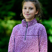 "YARMOUTH Maine -- SEPT 8, 2019 -- <br /> Lexi, 10. in ""Girl with a pearl"" stance<br /> Professional Portrait Photo by Roger S. Duncan  207-443-9665 <br /> http://www.rogerduncanphoto.com"