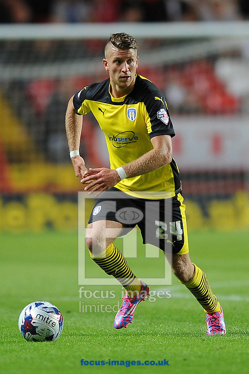 George Moncur of Colchester United during the Capital One Cup match at The Valley, London<br /> Picture by Richard Blaxall/Focus Images Ltd +44 7853 364624<br /> 12/08/2014