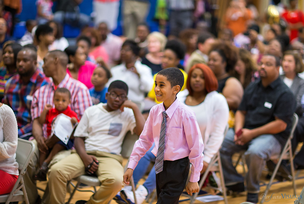 Erwin Montessori&rsquo;s fifth grade graduation held at Alamance Elementary School on the last day of school.<br /> <br /> Omar Mohammed <br /> <br /> Photographed, Tuesday, June 12, 2018, in Greensboro, N.C. JERRY WOLFORD and SCOTT MUTHERSBAUGH / Perfecta Visuals