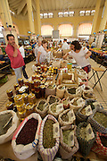 The market hall at Campos. Spices and honey.