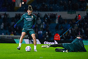 Leeds United midfielder Kalvin Phillips (23) and Leeds United goalkeeper Illan Meslier (1) warming up during the EFL Sky Bet Championship match between Leeds United and Hull City at Elland Road, Leeds, England on 10 December 2019.