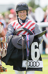 Lucy Henman wife of Tim Henman who rode in the charity race at Ladies Day at Glorious Goodwood in the UK  <br /> Thursday, 1st August 2013<br /> Picture by i-Images