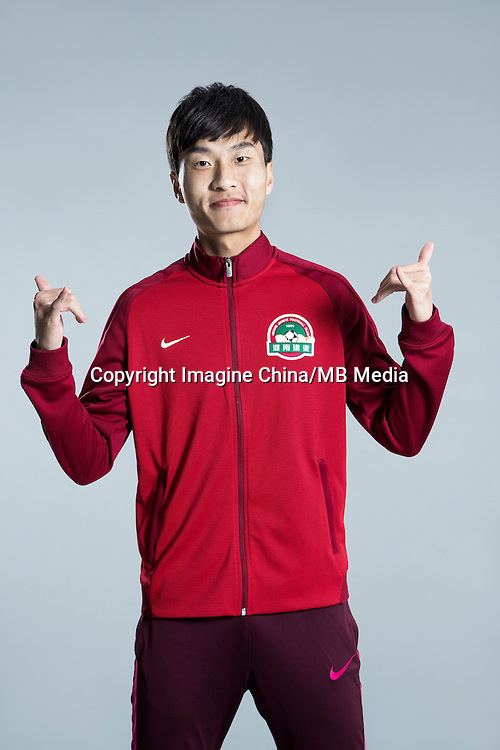 Portrait of Chinese soccer player Long Wei of Henan Jianye F.C. for the 2017 Chinese Football Association Super League, in Zhengzhou city, central China's Henan province, 19 February 2017.