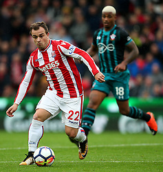Xherdan Shaqiri of Stoke City and Mario Lemina of Southampton - Mandatory by-line: Matt McNulty/JMP - 30/09/2017 - FOOTBALL - Bet365 Stadium - Stoke-on-Trent, England - Stoke City v Southampton - Premier League