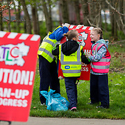 04.04.2017         <br /> St. Brigids National School, Singland Limerick were off the mark early for TLC3. <br /> Pictured during the clean up were, Conor Marnell, Maddison O'Neill and Lucy Kelly. Picture: Alan Place